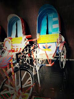 travel, bangladesh, dhaka, banani, souveneir, toy, rickshaw