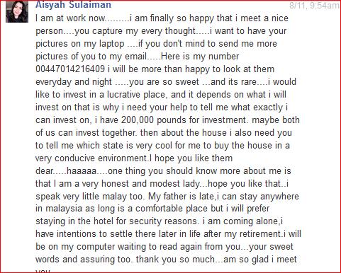 Hati-Hati Dengan Penipuan Di FB oleh  Aisyah Sulaiman