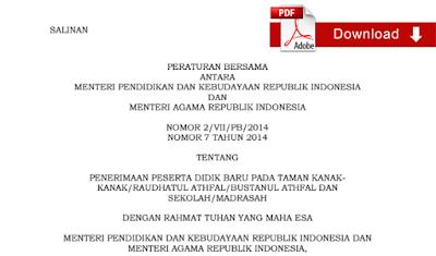 Peraturan Mendikbud dan Menteri Agama Tentang Penerimaan Peserta Didik Baru Tahun Pelajaran 2015/2016