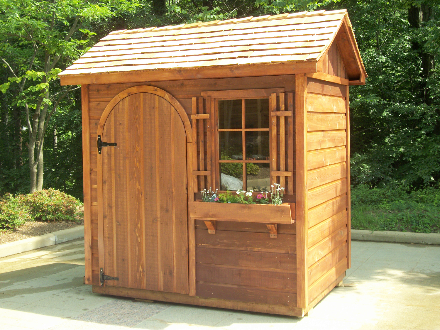 win a women built garden shed