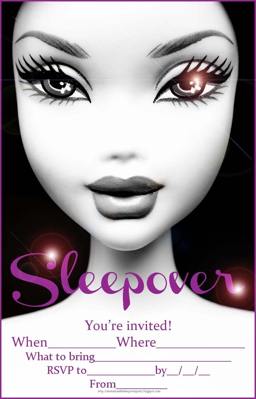 Pajama Party Invitations Free Printable for luxury invitations example