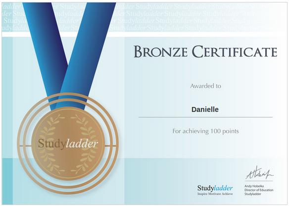 danielle bronze certificate study ladder
