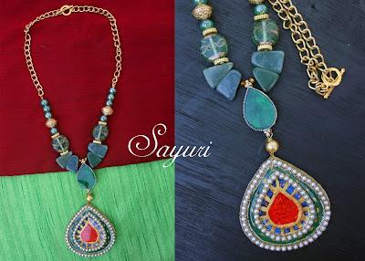 meenakari paper necklace