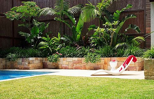 Landscape design ideas backyard pool landscape ideas for Pool garden ideas