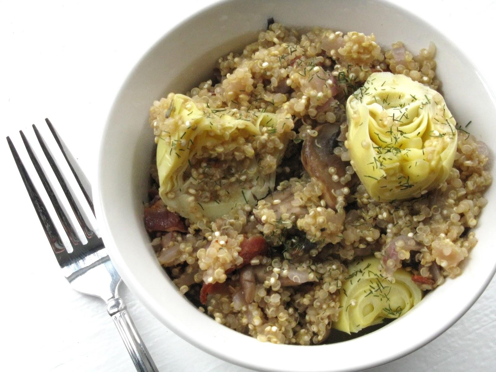 Quinoa Risotto with Artichoke Hearts