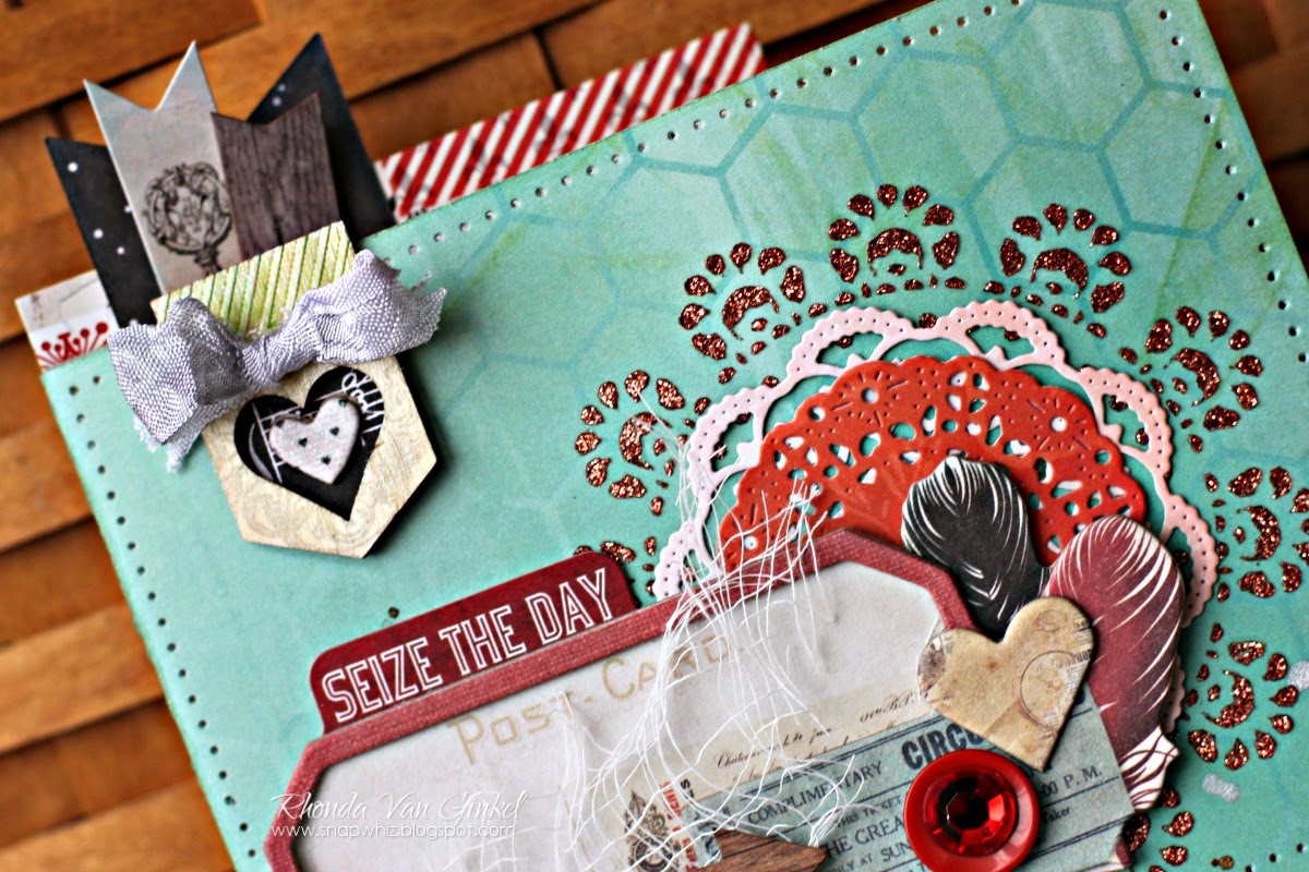 Seize The Day Card Featuring Star-Crossed Collection for BoBunny by Rhonda Van Ginkel