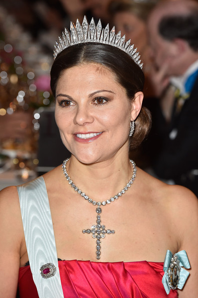 Crown Princess Victoria of Sweden attend the 2014 Nobel prize award ceremony