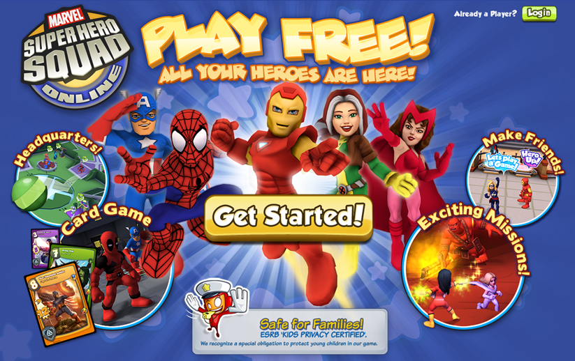 Marvel Super Hero Squad Online Game
