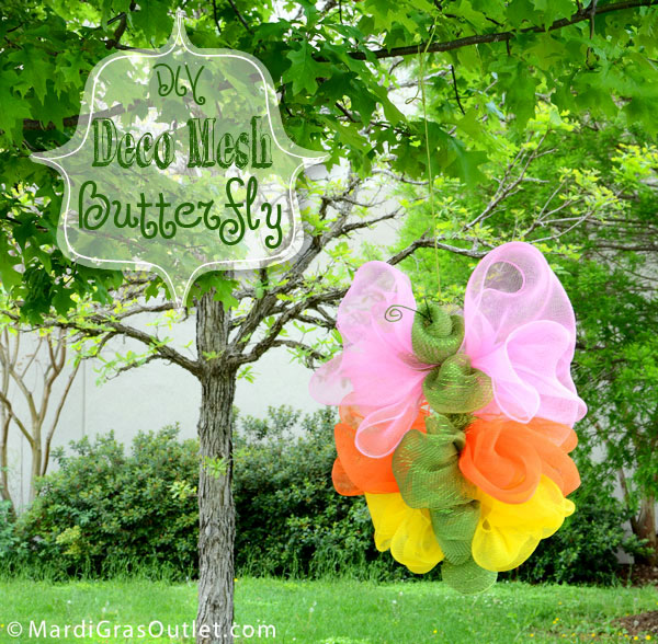 Deco Mesh Butterfly Wreath Tutorial