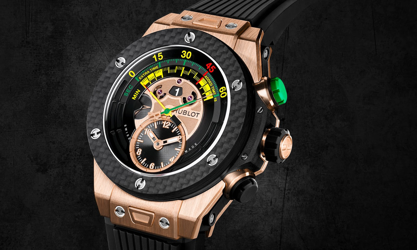 HUBLOT BIG BANG UNICO BI-RETROGRADE CHRONO KING GOLD