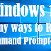 Windows 10-many ways to open command prompt