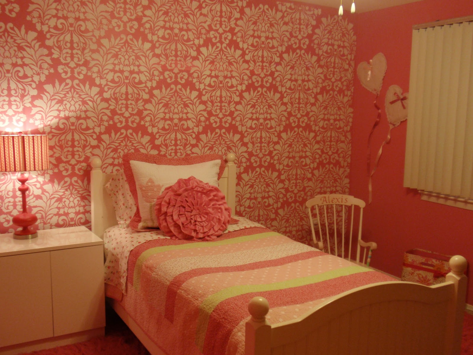 diy by design little girl 39 s room reveal and royal design studio stencil giveaway