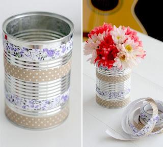 Floreros con Latas Recicladas, Decoración Ecoresponsable