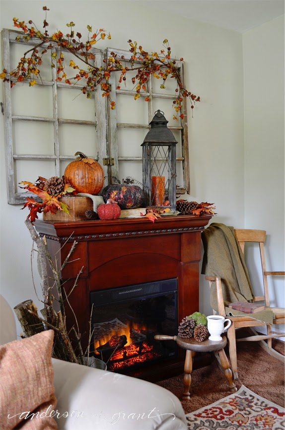 fall living room decor. What do you think of my fall living room  I hope to get dining done share with next week anderson grant Decorating My Living Room for Fall