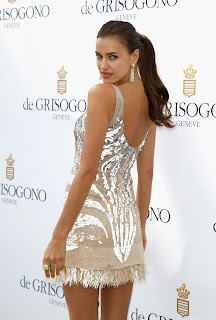 Irina Shayk silver dress, Irina Shayk blows a kiss