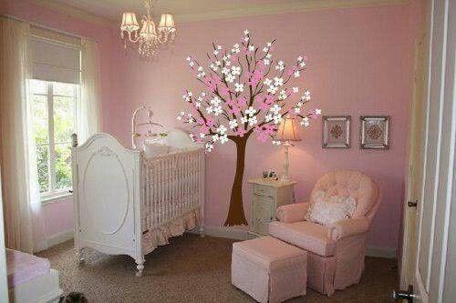 Cuartos de beb s en color rosa y blanco dormitorios - Decoracion habitacion de bebe nina ...