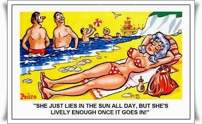 British Saucy Seaside Postcard