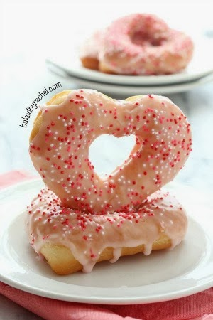 Strawberry Glazed Valentine Donuts