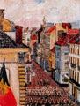 James Ensor (31 años) - Música en la calle de Flandes (1891)
