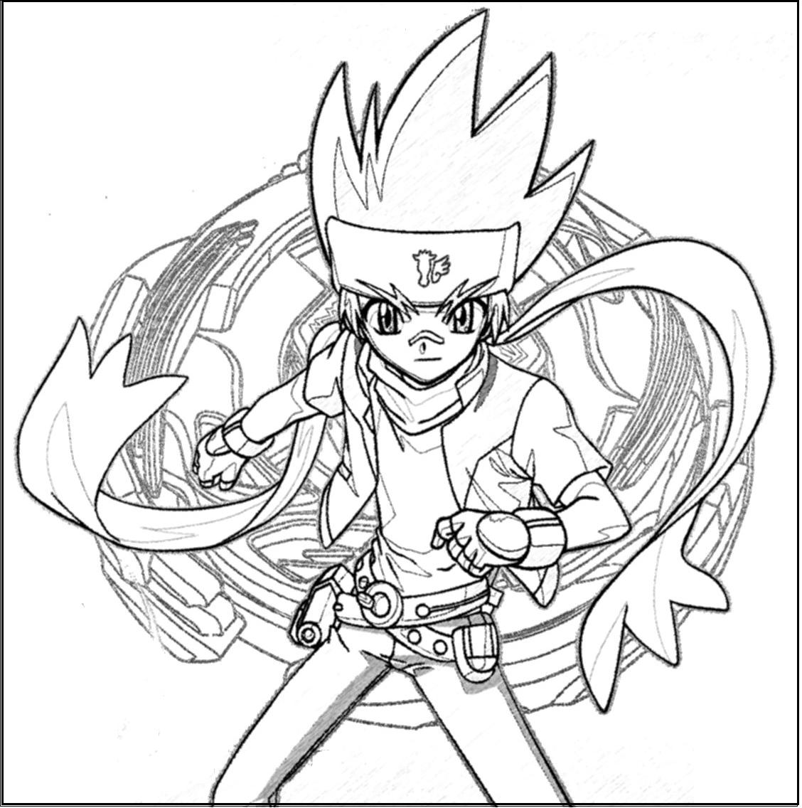 beyblade coloring pages gingka - photo#8