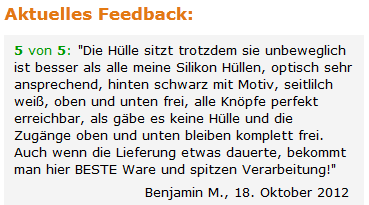 Feedback auf Amazon
