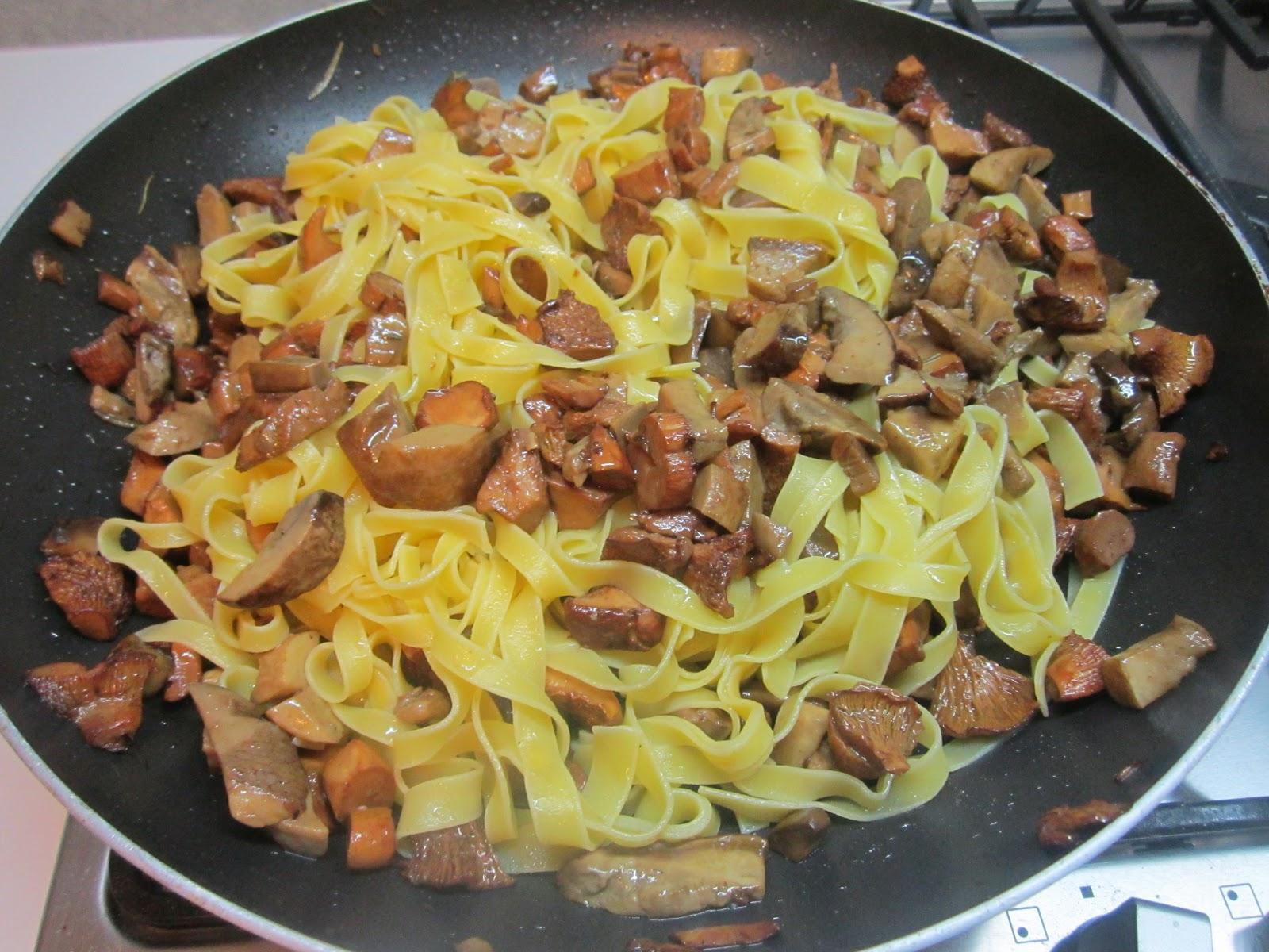 Ricetta per la pasta con i funghi