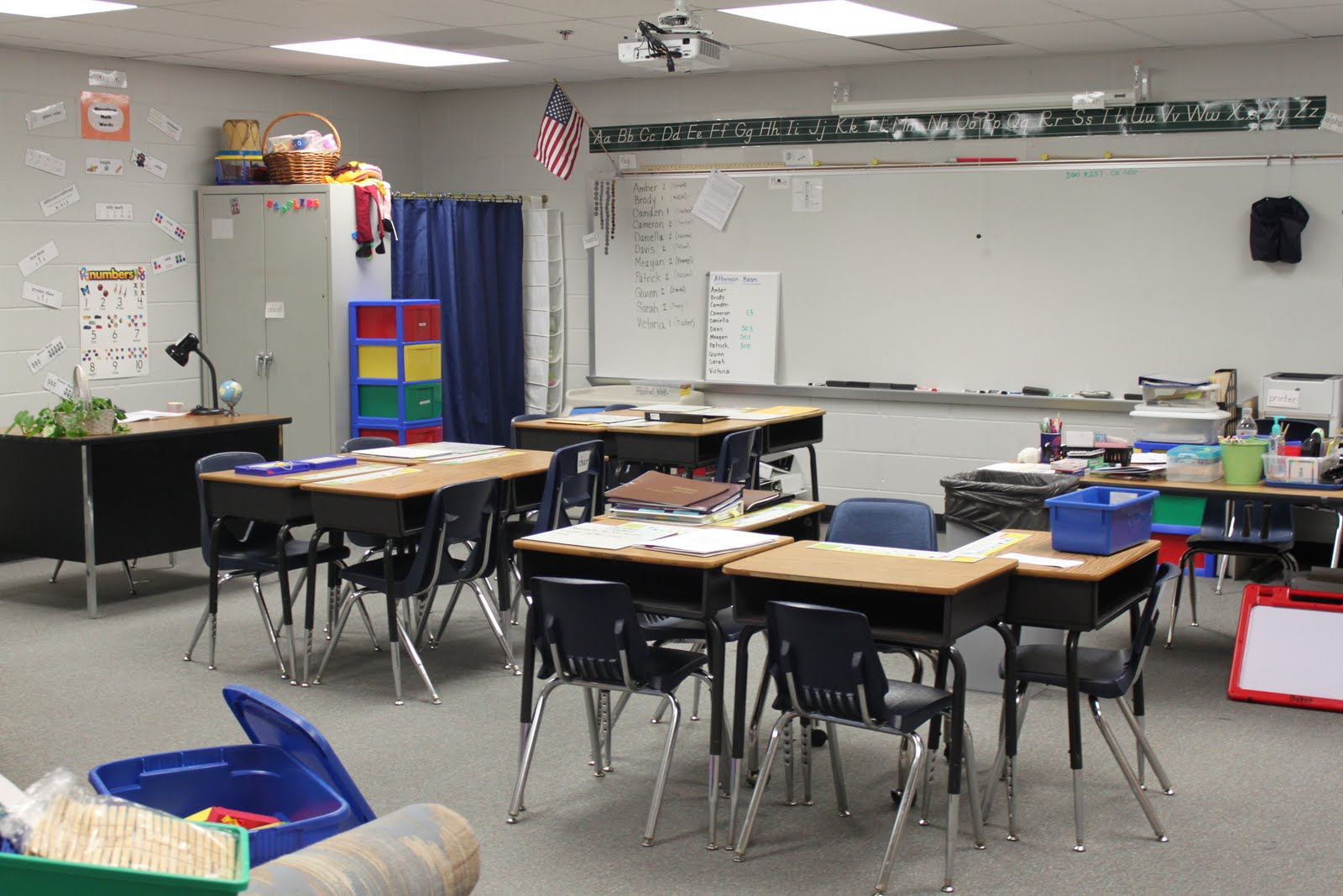 Special Ed. Classroom. I Like How She Made The Four Desks Like A Kidney  Table (those Are In High Demand In Our School)