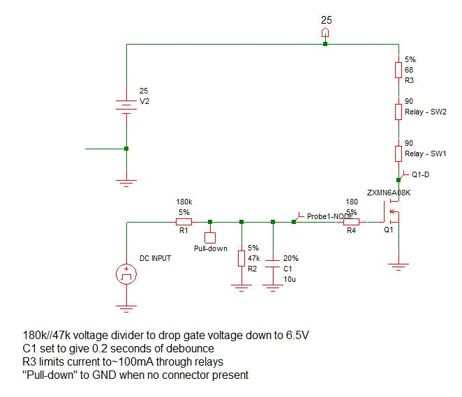 Battery charging circuitry part 2 Relay driver protection