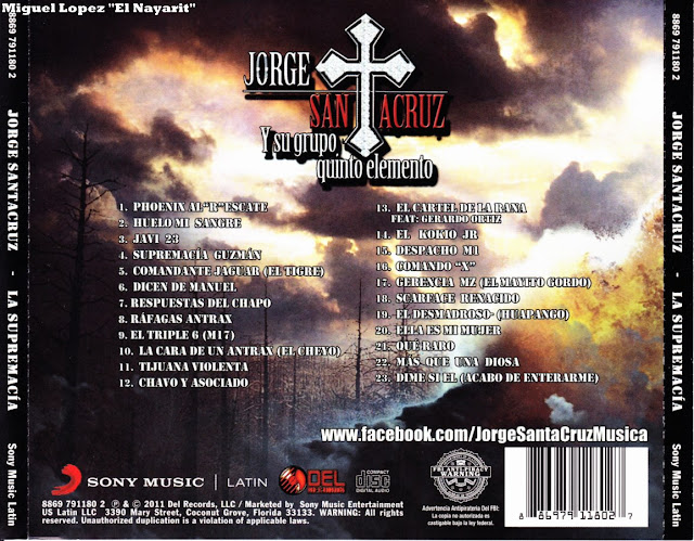 Jorge Santa Cruz – Supremacia Guzman Disco - Album 2011