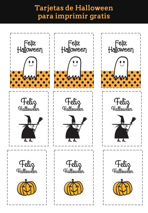 Tarjtetas Hallowen para imprimir