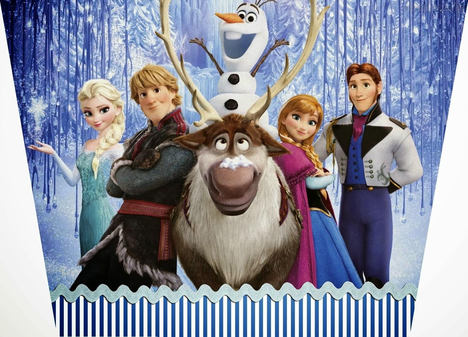 Imprimible gratis de Frozen - Fiesta de princesas