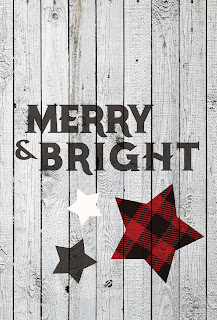 LostBumblebee ©2015 MDBN : RUSTIC CHRISTMAS : MERRY AND BRIGHT : FREE FOR PERSONAL USE ONLY