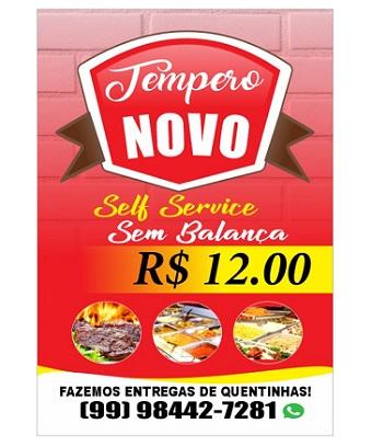 SELF SERVICE TEMPERO NOVO SEM BALANÇA