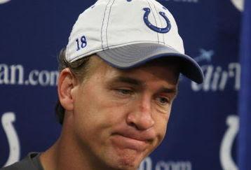 Sad Payton Manning Colts
