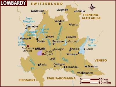 Mappa Politica della Lombardia