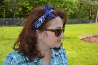 High school fashion how to make and wear the bandana headband