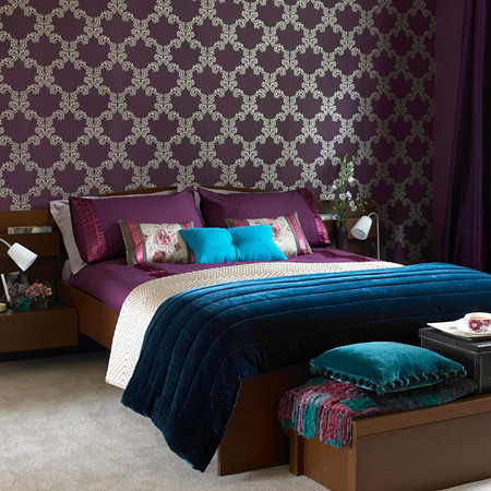 The bold and the beautiful fall color trend bordeaux for Blue purple bedroom ideas