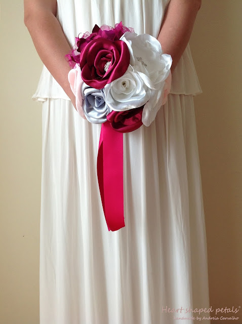 fabric bouquet roses