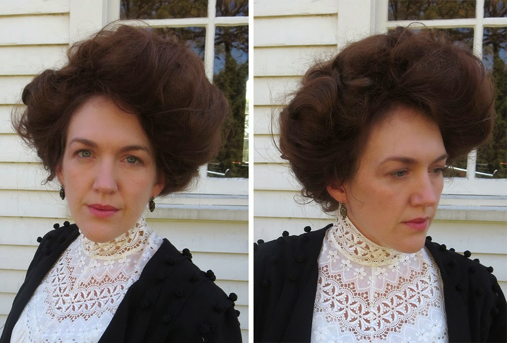 Festive Attyre Merry Widow Hat And Gibson Girl Hair