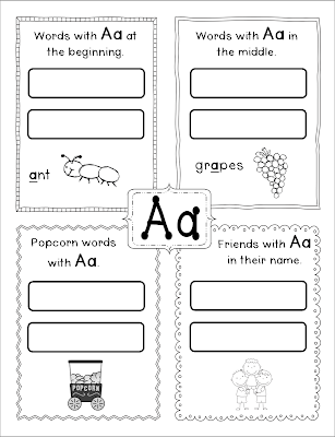 Inspired by Kindergarten: Center Books: Read the Room/Write the Room