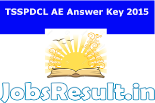 TSSPDCL AE Answer Key 2015
