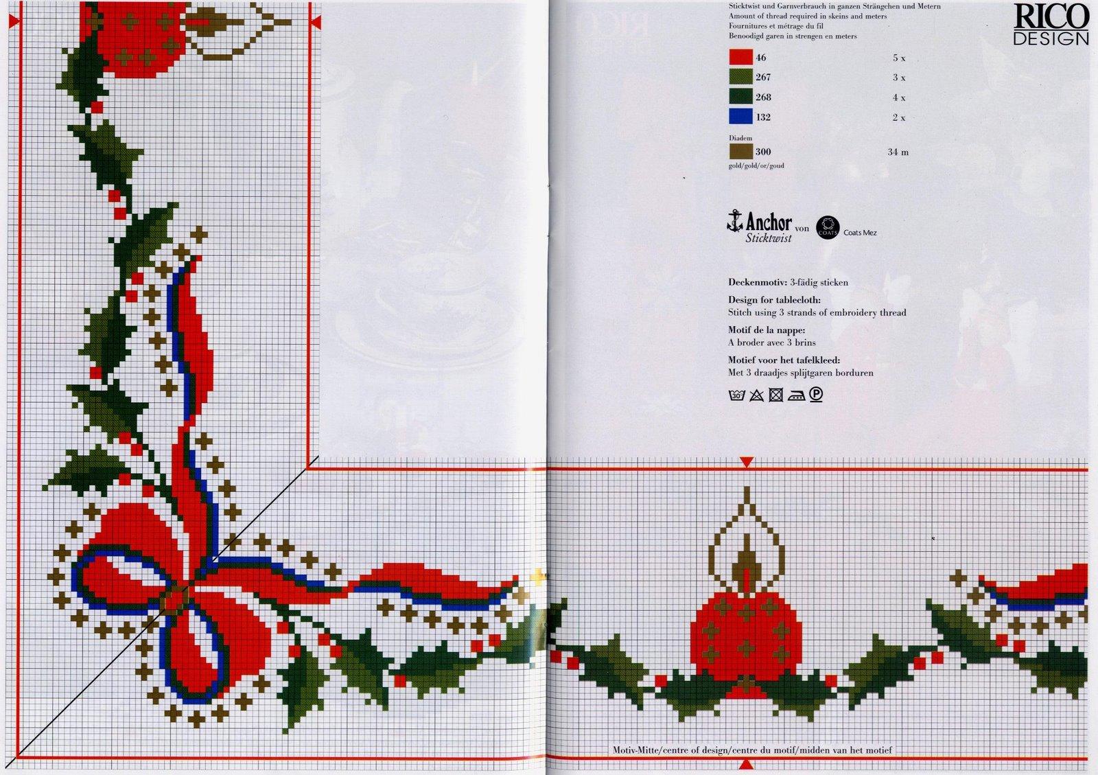 Новогодние скатерти вышивка крестиком