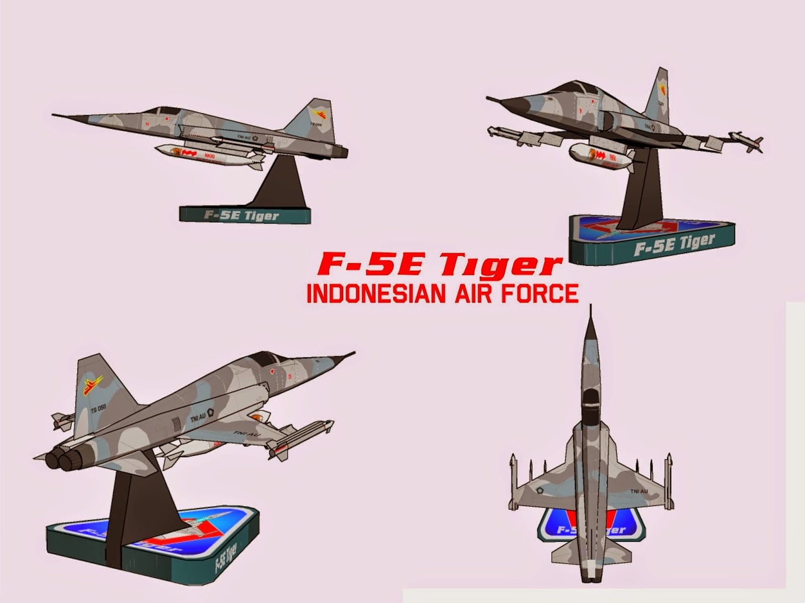 F-5 E Tiger Papercraft Indonesia Air Force