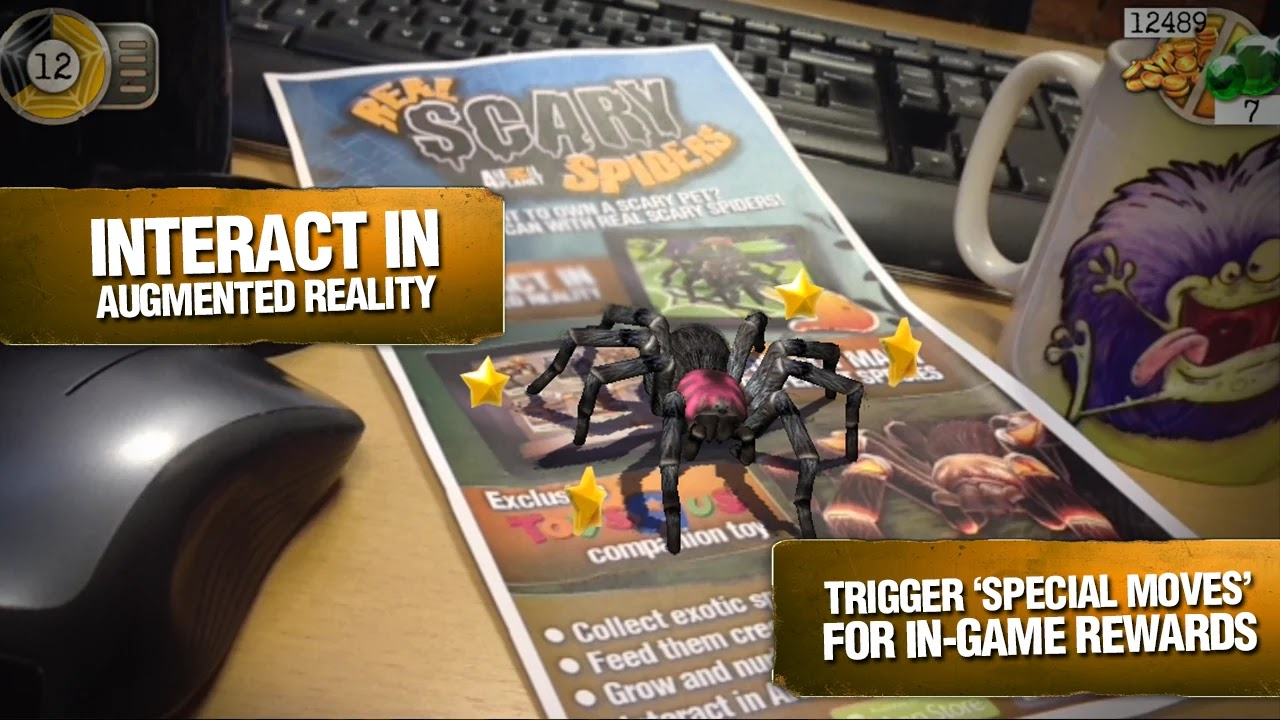 Real Scary Spiders v1.2.4 Mod [Unlimited Gold/Gems]