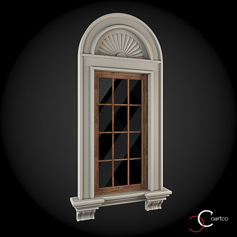 Ornamente Geamuri Exterior, Arcada fatade case cu profile decorative polistiren, profile fatada,  Model Cod: WIN-025