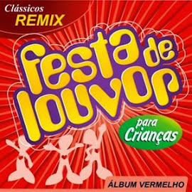 CD festa de louvor infantil álbum vermelho