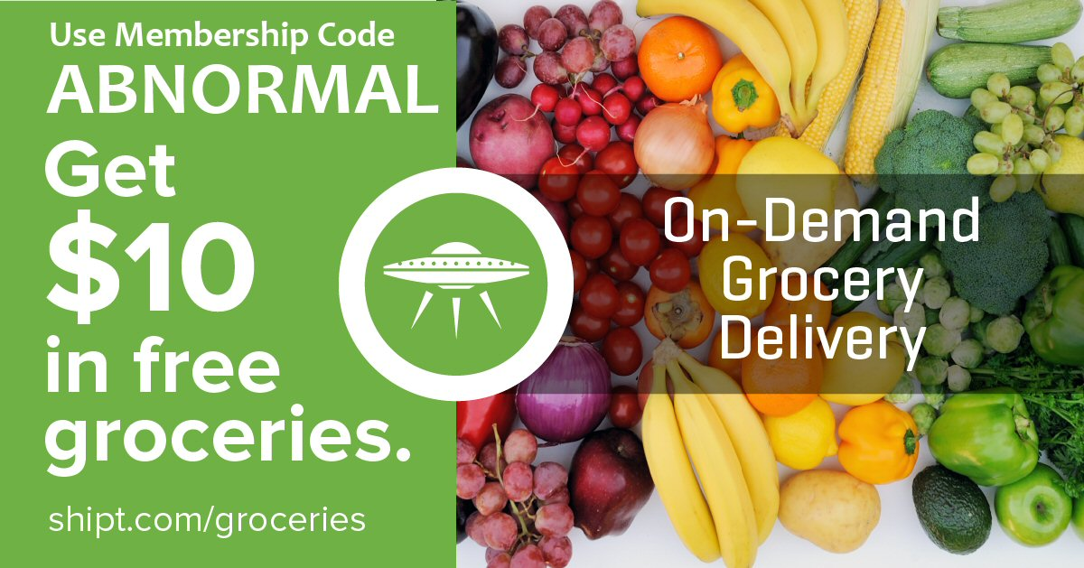 Get Free Groceries from Shipt with Code: ABNORMAL