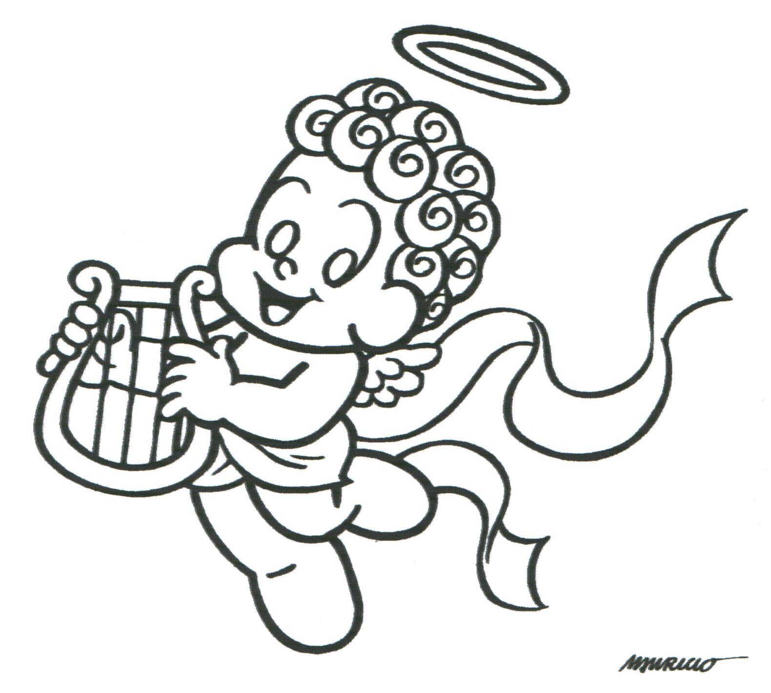 Desenhos Para Colori turma da monica em festas de natal desenhar