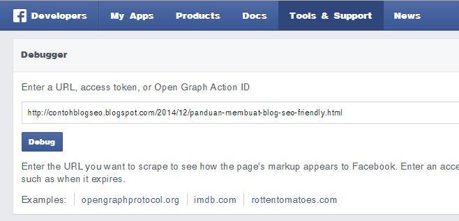 facebook debugger tools