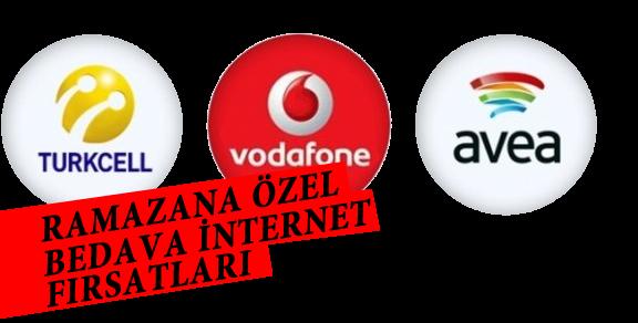 Vodafone, Turkcell ve Avea'dan Ramazana Özel Bedava İnternet
